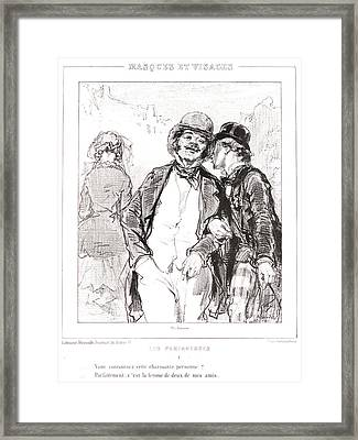 Paul Gavarni Aka Hippolyte-guillaume-sulpice Chevalier Framed Print by Litz Collection