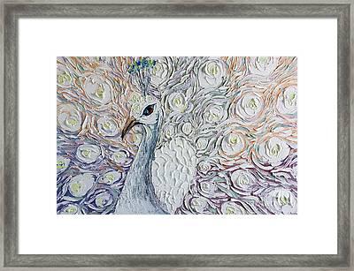 Peacock Framed Print by Willson Lau
