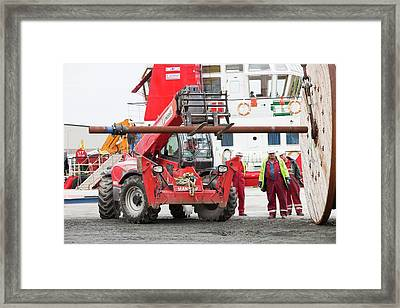 Pieces For The Walney Offshore Windfarm Framed Print by Ashley Cooper