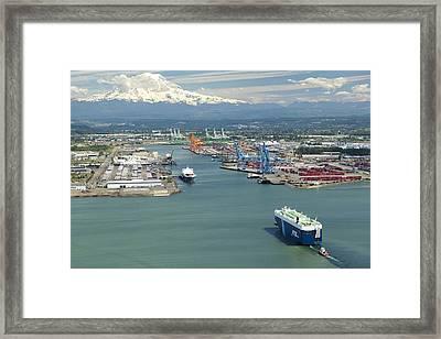 Port Of Tacoma, Tacoma Framed Print