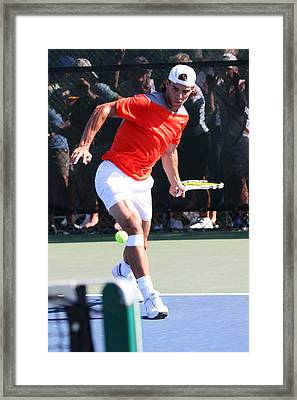 Rafael Nadal	 Framed Print by James Marvin Phelps
