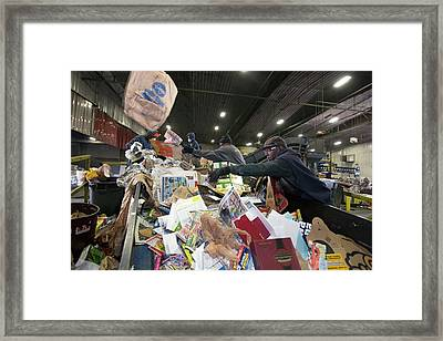 Recycling Plant Framed Print