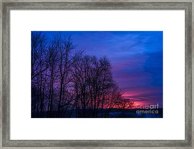 Red Sky At Morning Framed Print by Thomas R Fletcher