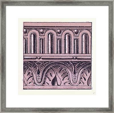 Renaissance Ornament Framed Print by English School