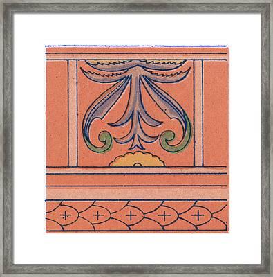 Renaissance Ornament Framed Print by Litz Collection
