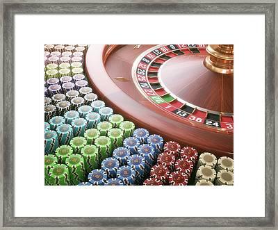 Roulette Wheel Framed Print