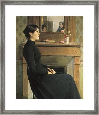 Rusi�ol I Prats, Santiago 1861-1931 Framed Print by Everett