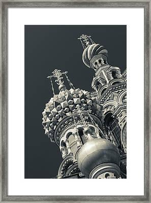 Russia, Saint Petersburg, Center Framed Print by Walter Bibikow