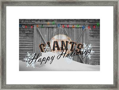 San Francisco Giants Framed Print by Joe Hamilton