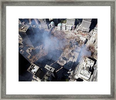 11 September Aftermath Framed Print by Us Navy/eric J. Tilford