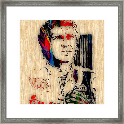 Steve Mcqueen Collection Framed Print by Marvin Blaine