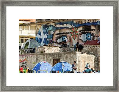 Syrian Refugees Framed Print by Ashley Cooper