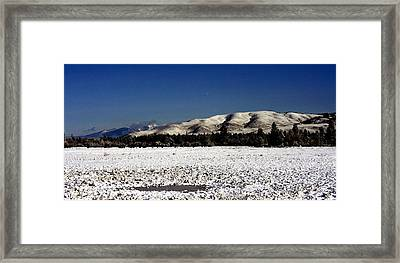 The Bitterroot Valley  Framed Print by Larry Stolle