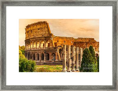 The Majestic Coliseum - Rome Framed Print