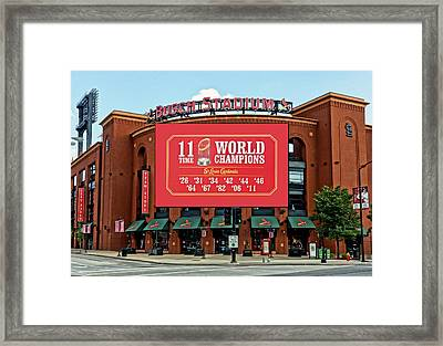 11 Time World Champion St Louis Cardnials Dsc01294 Framed Print by Greg Kluempers