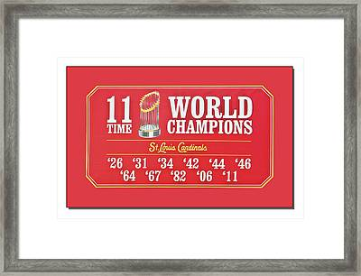 11 Time World Chapion Poster Dsc01106 Framed Print by Greg Kluempers