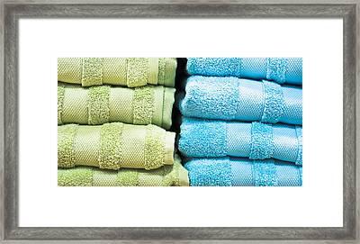 Towels Framed Print by Tom Gowanlock