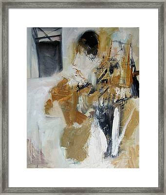 Framed Print featuring the painting Two Figures by Fred Smilde