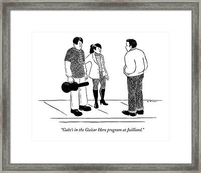 Gabe's In The Guitar Hero Program At Juilliard Framed Print by Emily Flake