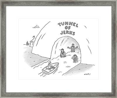 Tunnel Of Jerks Framed Print