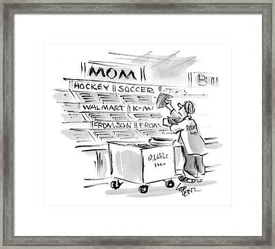 New Yorker September 22nd, 2008 Framed Print by Lee Lorenz
