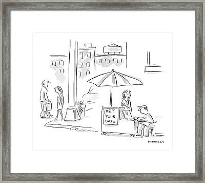 New Yorker February 13th, 2006 Framed Print by Liza Donnelly