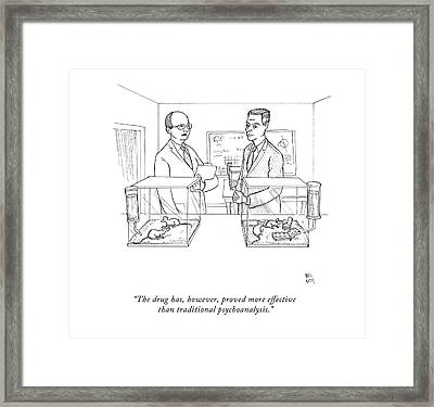 The Drug Framed Print by Paul Noth