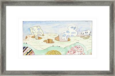 New Yorker August 9th, 2004 Framed Print by Saul Steinberg