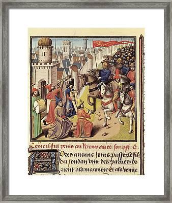 Vincent Of Beauvais 1190-1264. Speculum Framed Print