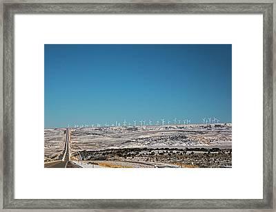 Wind Farm Framed Print by Jim West