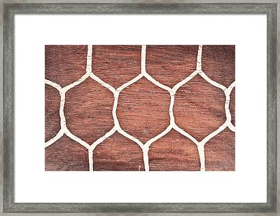 Wood Background Framed Print