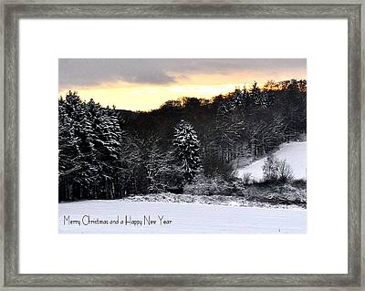 110 Snowscape Framed Print by Patrick King