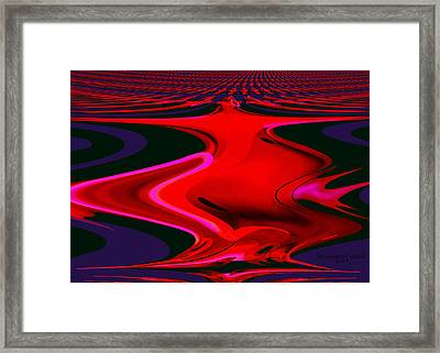 1109 - Abstract Room Crimson Red Framed Print by Irmgard Schoendorf Welch