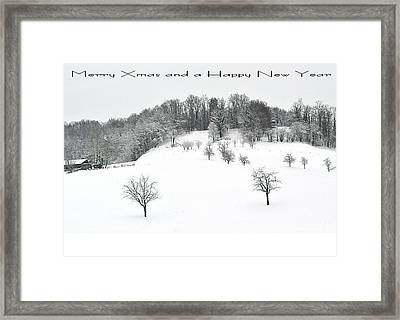 111 - Snowscape Framed Print by Patrick King
