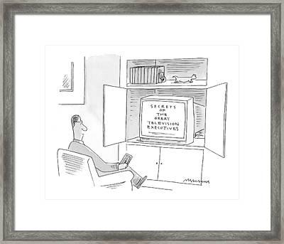 New Yorker January 10th, 2000 Framed Print by Mick Stevens