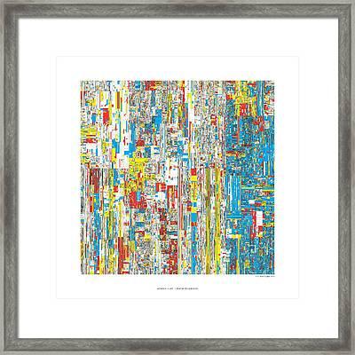 111469 Digits Of Pi Framed Print by Martin Krzywinski