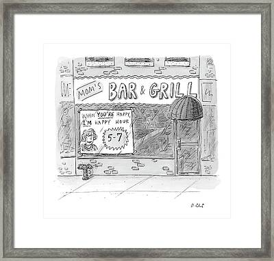 New Yorker May 15th, 2006 Framed Print by Roz Chast