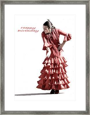 113 Chiki Torres Birthday Card Framed Print by Patrick King