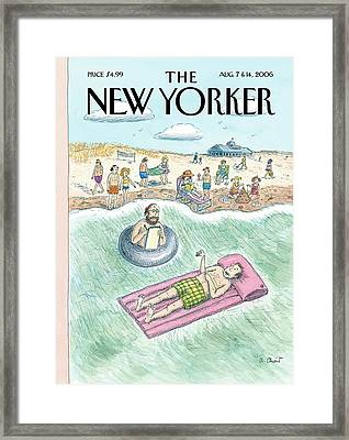 New Yorker August 7th, 2006 Framed Print by Roz Chast