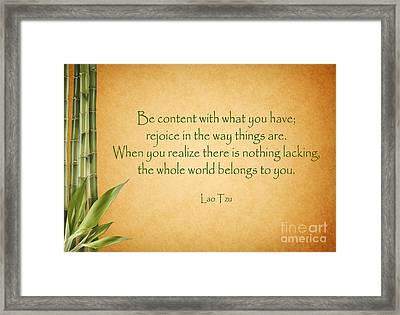 114- Lao Tzu Framed Print