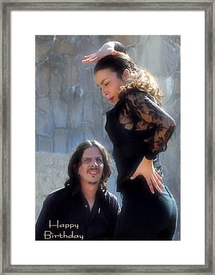 115 Chiki Torres Birthday Card - Flamenco Dancer Framed Print by Patrick King