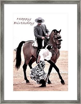 117 Marta Y Ismael Birthday Card Framed Print by Patrick King