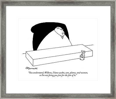 You Understand Framed Print