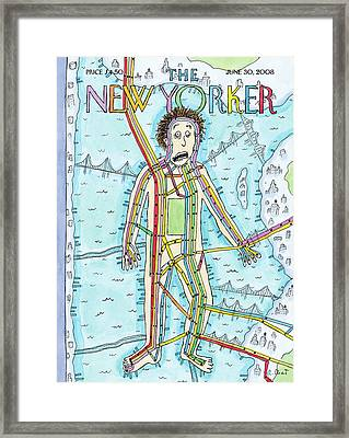 New Yorker June 30th, 2008 Framed Print by Roz Chast