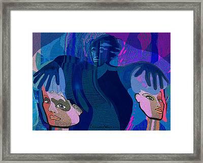 1173 - Dark Angel Framed Print by Irmgard Schoendorf Welch