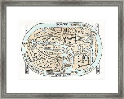 11th Century World Map Framed Print