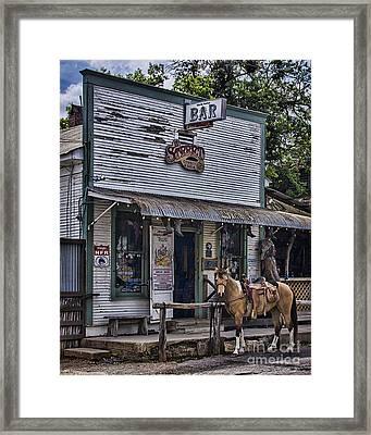 11th Street Cowboy Bar In Bandera Texas Framed Print