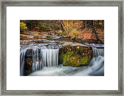 Waterfalls George W Childs National Park Painted Framed Print
