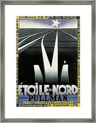 Etoile Du Nord Train Framed Print