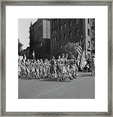 Anniversary Day Parade Of The Sunday Framed Print by Stocktrek Images